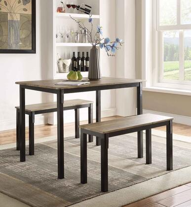 159356 Tool Less Collection Boltzero Dining Table with 2