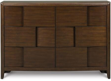 Y1876-20 Twilight Next Generation Youth Six Drawer Dresser in Chestnut