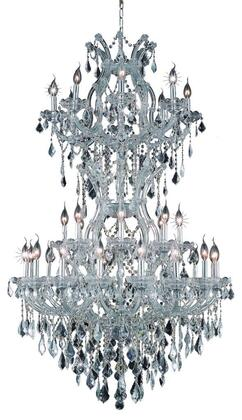 2800D36SC/EC 2800 Maria Theresa Collection Large Hanging Fixture D36in H56in Lt: 32+2 Chrome Finish (Elegant Cut