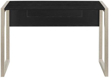 Become Collection EEI-2785-NAT-BLK Writing Desk with 1 Drawer  Non-Marking Foot Glides  Rectangular Shaped Melamine Top and Matte Coated Base in Natural Black