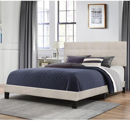 Delaney Collection 2009-461 Full Size Bed with Headboard  Footboard  Rails  Fabric Upholstery and Low Profile Design in