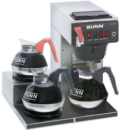 12950.0298 CWTF15-3  PF  12 Cup Automatic Coffee Brewer With 3 Warmers  Hot Water Faucet  Pourover  SplashGard  in Stainless
