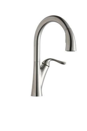 LKHA4031CR Harmony Single Handle Kitchen Faucet with Metal Lever Handle and Pull Out