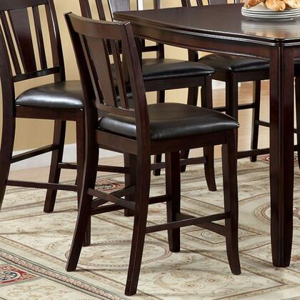 Edgewood II Collection CM3336PC-2PK Set of 2 Counter Height Chair with Padded Leatherette Seat and Tapered Legs in Espresso