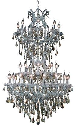 2801D36SC-GT/RC 2801 Maria Theresa Collection Large Hanging Fixture D36in H56in Lt: 32+2 Chrome Finish (Royal Cut Golden Teak