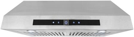 UTS30 30 inch  Under Cabinet Range Hood with 760 CFM  3 Speed Illuminated Soft Touch Control  2 Halogen Lights and Dishwasher Safe Stainless Steel Baffle Filters