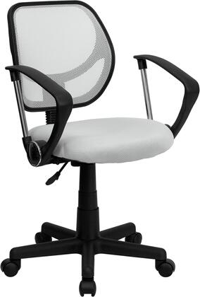 WA-3074-WHT-A-GG Mid-Back White Mesh Task Chair and Computer Chair with