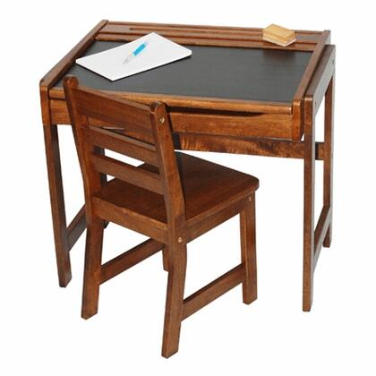 554WN Desk with Chalkboard Top and Chair in Walnut