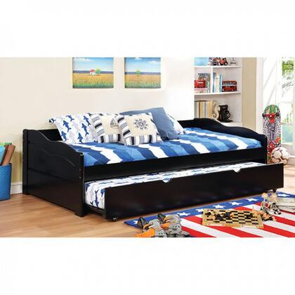 Sunset Collection CM1737BK-BED Twin Size Daybed with Trundle Included  Casters  Slat Kit Included  Solid Wood and Wood Veneers Construction in Black