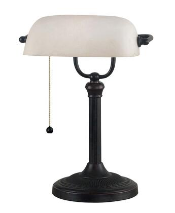 21394ORB Amherst Banker Lamp in Oil Rubbed Bronze