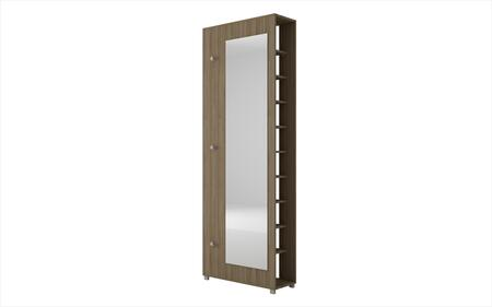 88AMC23 Valencia 1.0- 10- Shelf with 3 Hooks and Full Length Mirror Shoe Closet in