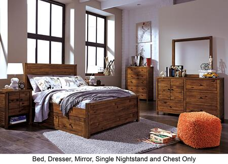 Fennison Twin Bedroom Set With Storage Bed  Dresser  Mirror  Nightstand And Chest In Light