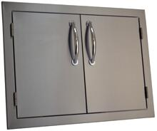 SODX2AD27  20 inch  x 27 inch  Deluxe Double Door with Raised Reveal Design and 3/8 inch  Self Rimming Trim Bezel  Stainless