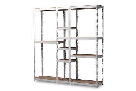 WH06/WH09/WH12-White-Shelf Baxton Studio Gavin Modern and Contemporary White Metal 10-Shelf Closet Storage Racking