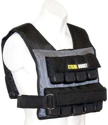 XM-3711 55 lbs. Commercial Micro Adjustable Weighted Vest with Incremental Weights  Easy Adjustable Velcro Strap and Commercial Material in