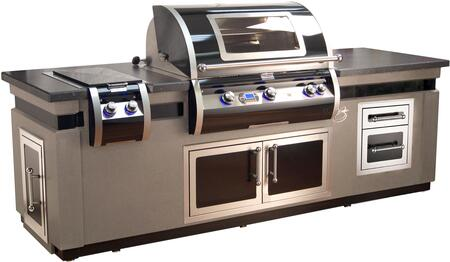 Echelon Black Diamond Island with H790I4L1NW Natural Gas Grill  32814H Natural Gas Side Burner  53938HSC Double Access Door  53802HSC Double Drawer and
