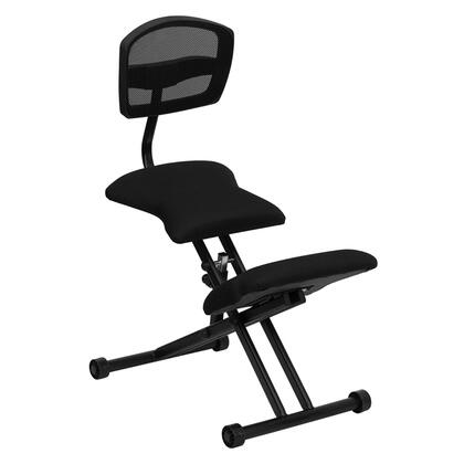 WL-3440-GG Ergonomic Kneeling Chair with Black Mesh Back and Fabric