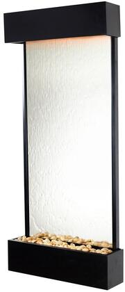 Echo Falls WWLVM-BL Large Portrait Mirror with Black Onyx Trim  LED Lighting System and a Hand Held Remote in