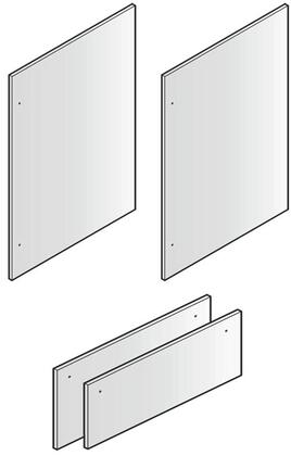 Set of 4 Door Panels for 80 inch  Installation  in Stainless
