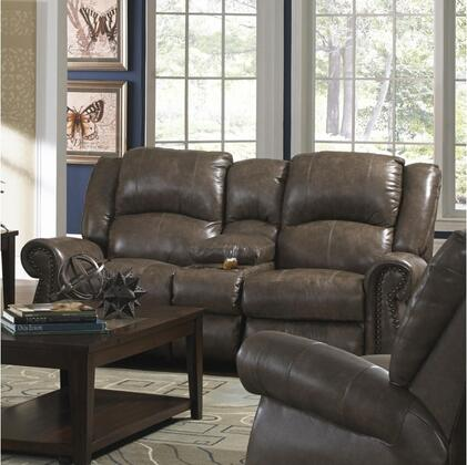 Livingston Collection 64509 1274-28/3074-28 80 Power Reclining Console Loveseat With Cup Holders  Bombay Arms  Top Stitch Sewing And Top Grain Leather