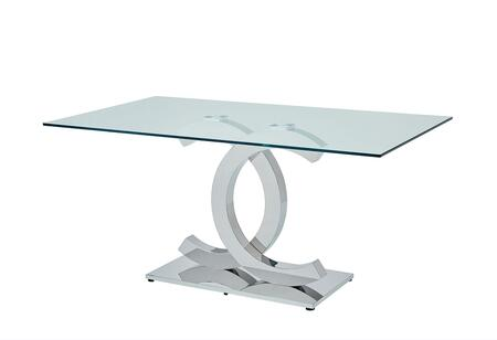 I17642 71 151 Dining Table With Glass Top And Metal And Metal