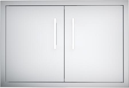 BA-DD30 Signature Series 30 inch  Belved Frame Double Access Doors in Stainless