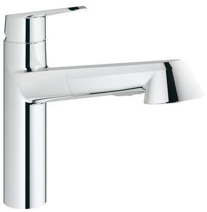 Grohe 33330002 Eurodisc Cosmopolitan Single-Handle Kitchen Faucet, Starlight