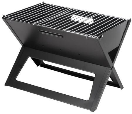 60508 Black Portable Notebook Charcoal Grill with High Heat Resistant Painted Steel