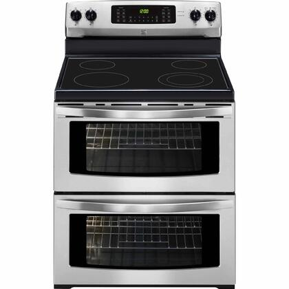 97613 30 Freestanding Double Oven Electric Range with 7.2 cu. ft. Total Oven Capacity  4 Elements  Sabbath Mode and Ceramic Glass Cooktop in