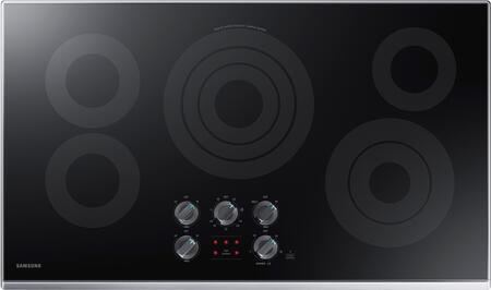 "NZ36K6430RS 36"" Electric Cooktop with 5 Elements  Rapid Boil Element  Illuminated Knobs and Wifi  in Stainless"