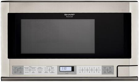 R-1214T 1.5 cu. ft. Over the Counter Microwave Oven with 1 100 Cooking Watts and Auto-Touch Control Panel: Stainless