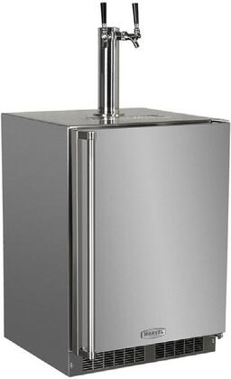 "MO24BNS1RS 24"" Built-in Outdoor Beer Dispenser with Half-Barrel Capacity  2 Stow-on-Board Refrigerator-Convertible Shelves  Standard Door Lock  5 lb. CO2 Tank"