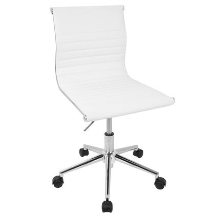 OC-MSTR W Master Contemporary Armless Adjustable Task Chair in