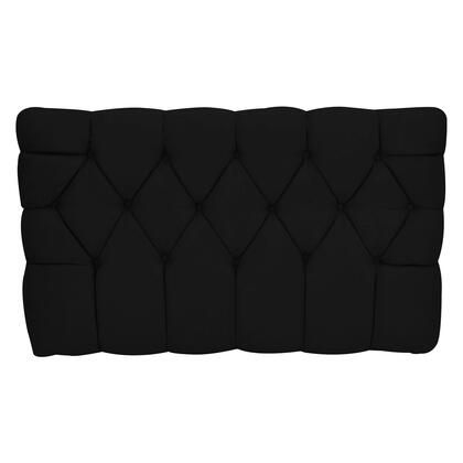 inch Meridia 11201BLS Collection inch  Tufted Upholstered Twin Headboard with Metal Legs and Wood Frame in Black