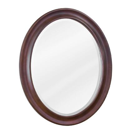 MIR062 Bath Elements 23.75 inch  x 31.5 inch  Nutmeg Clairemont Oval Mirror with Beveled