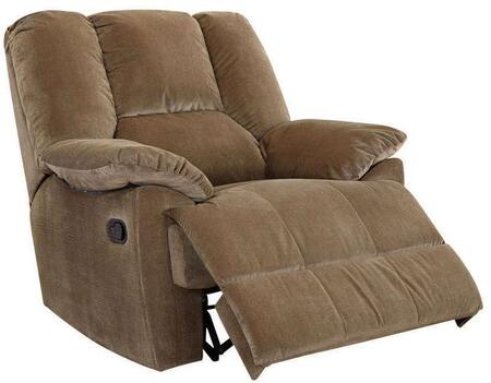 Oliver Collection 59093 41 inch  Glider Recliner with Pillow Top Arms  Loose Arm Rest  Hemlock Fir Wood Frame and Corduroy Fabric Upholstery in Sage