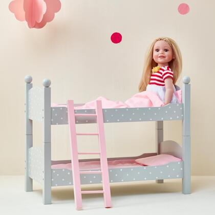TD0095AG 18 inch Doll Furniture - Double Bunk Bed