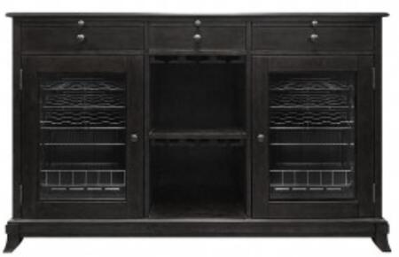 VTCAVA2DCE 38 Bottle Wine Storage Credenza with 2 Interior Lighting  Compressor Cooling System  3 Pull Out Shelves  3 Upper Storage Drawers  in Espresso
