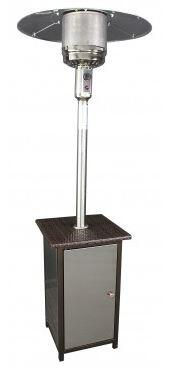 HCPHSSWKR Wicker Stand Patio Heater with Stainless Steel