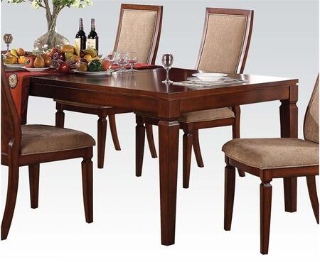 Shelton Collection 70620 72 inch  Dining Table with Tapered Legs  Apron and Wood Construction in Walnut