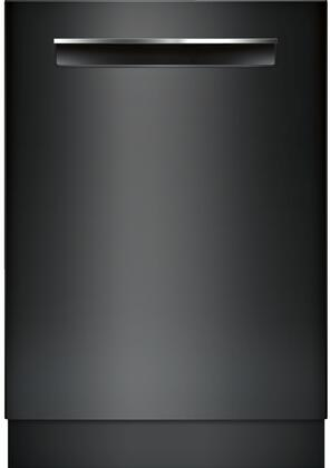"Bosch 800 Series 24"" Pocket Handle Dishwasher with Stainless Steel Tub Black SHPM78W56N"
