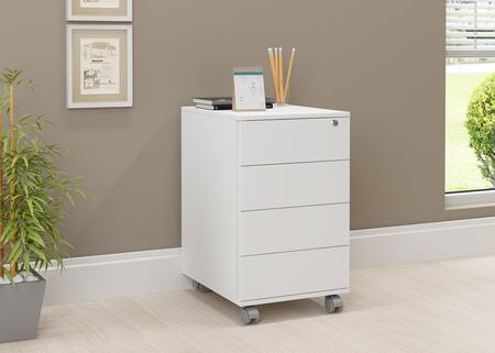 17094WH White Wood/Melamine 4-drawer Cabinet With