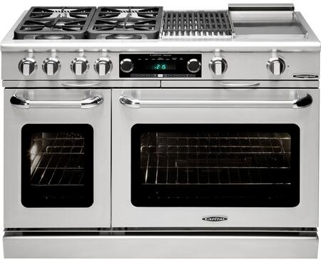 """Precision Series CSB484BG-L 48"""""""" Freestanding Dual Fuel Electric Range with 4 Sealed Burners  Primary 4.6 Cu. Ft. Oven Cavity  Secondary 2.1 Cu. Ft. Oven Cavity"""" 341274"""