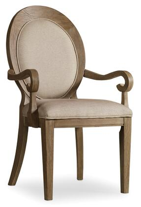 Corsica Series 5180-75402 41 inch  Traditional-Style Dining Room Oval Back Arm Chair with Tapered Legs  Piped Stitching and Fabric Upholstery in