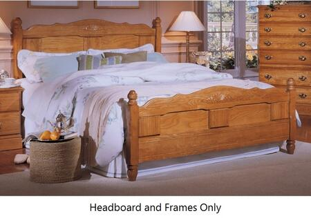 Carolina Oak 237850-982000-79091-Q 63 inch  Queen Sized Bed with Metal Frame and Panel Headboard in Golden