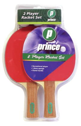 PGS2R Deluxe 2 Player Table Tennis Racket Set with 3 Quality White Balls and Table Tennis
