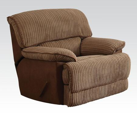 Malvern Collection 51142 44 inch  Rocker Recliner with Pocket Coil Seating  Tight Split Back Cushions and Ultra Plush Fabric Upholstery in Light Brown