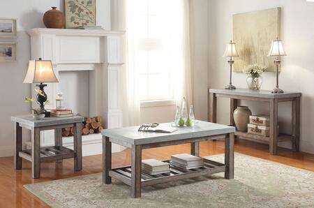 Dustin Collection 81590CES 3 PC Living Room Table Set with Coffee Table  End Table and Sofa Table in Salvage Oak