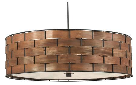 92038DWW Shaker 3 Light Pendant in Dark Woven Wood