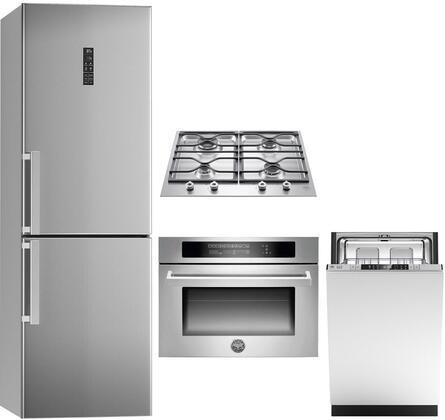 4 Piece Kitchen Appliance Package with REF24BMX 24